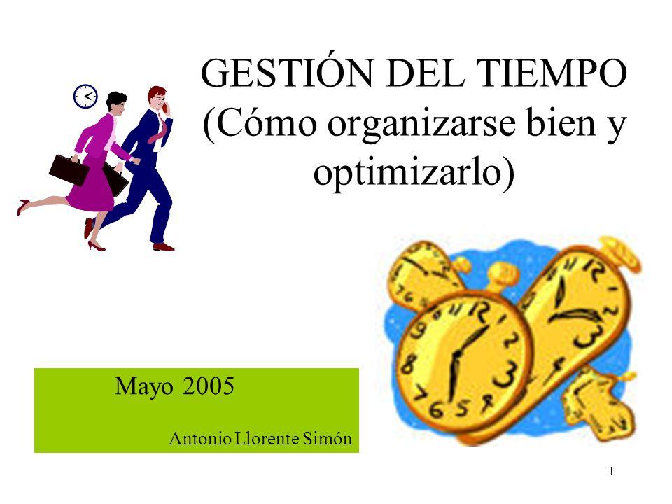 GESTIÓN DEL TIEMPO (Cómo organizarse bien y optimizarlo)