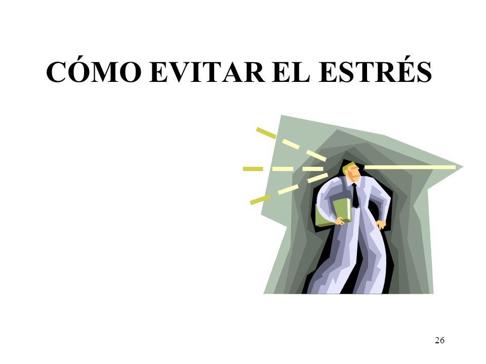CÓMO EVITAR EL ESTRÉS