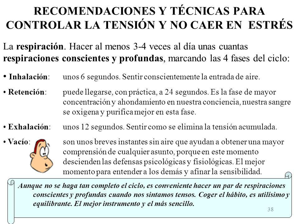 RECOMENDACIONES Y TÉCNICAS PARA CONTROLAR LA TENSIÓN Y NO CAER EN ESTRÉS