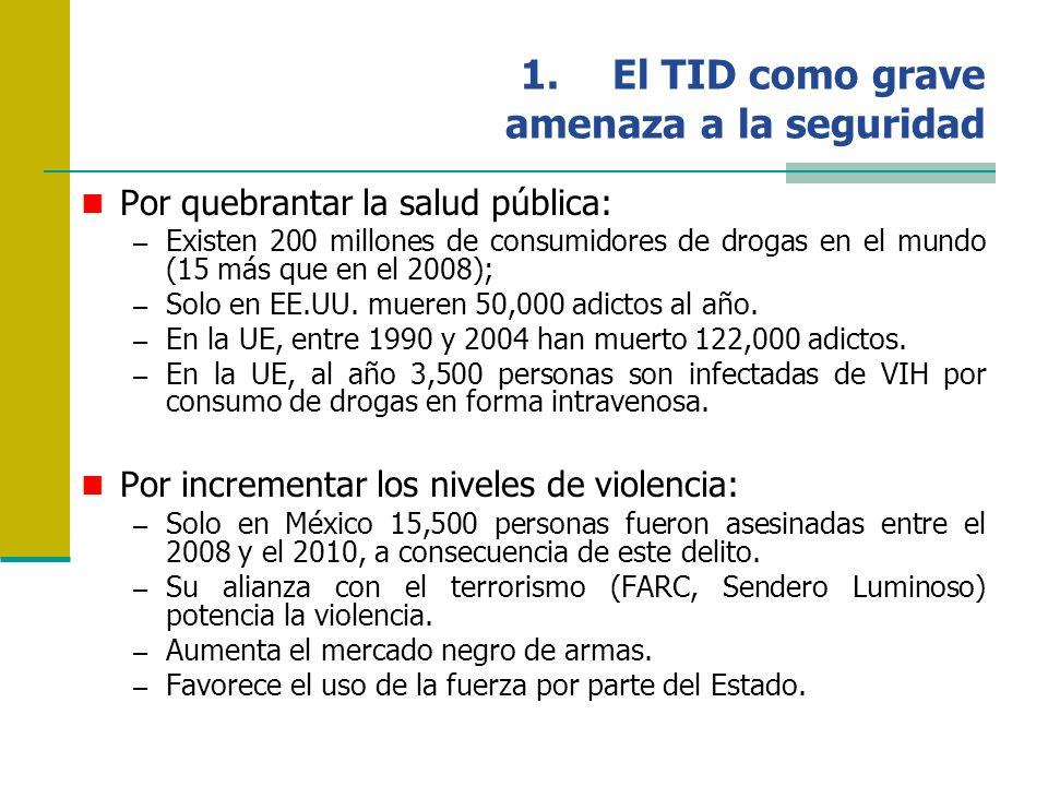 El TID como grave amenaza a la seguridad