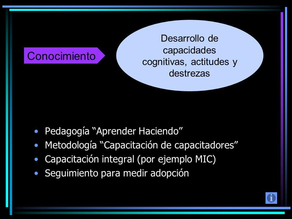 Desarrollo de capacidades cognitivas, actitudes y destrezas