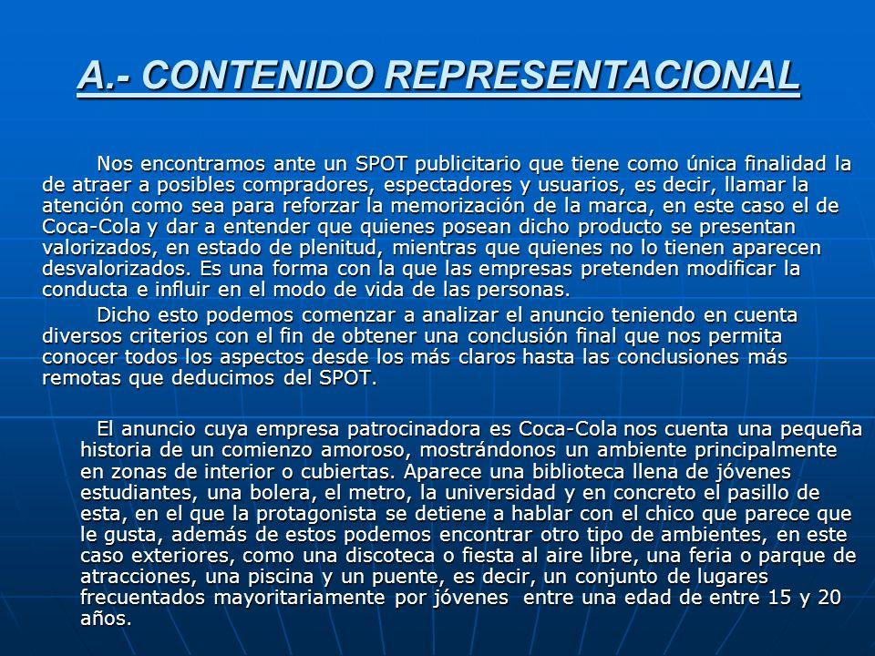 A.- CONTENIDO REPRESENTACIONAL