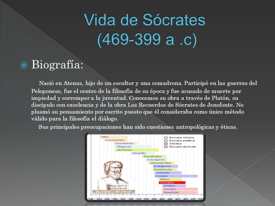 Vida de Sócrates (469-399 a .c) Biografía: