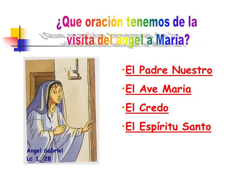 ¿Que oración tenemos de la visita del ángel a María