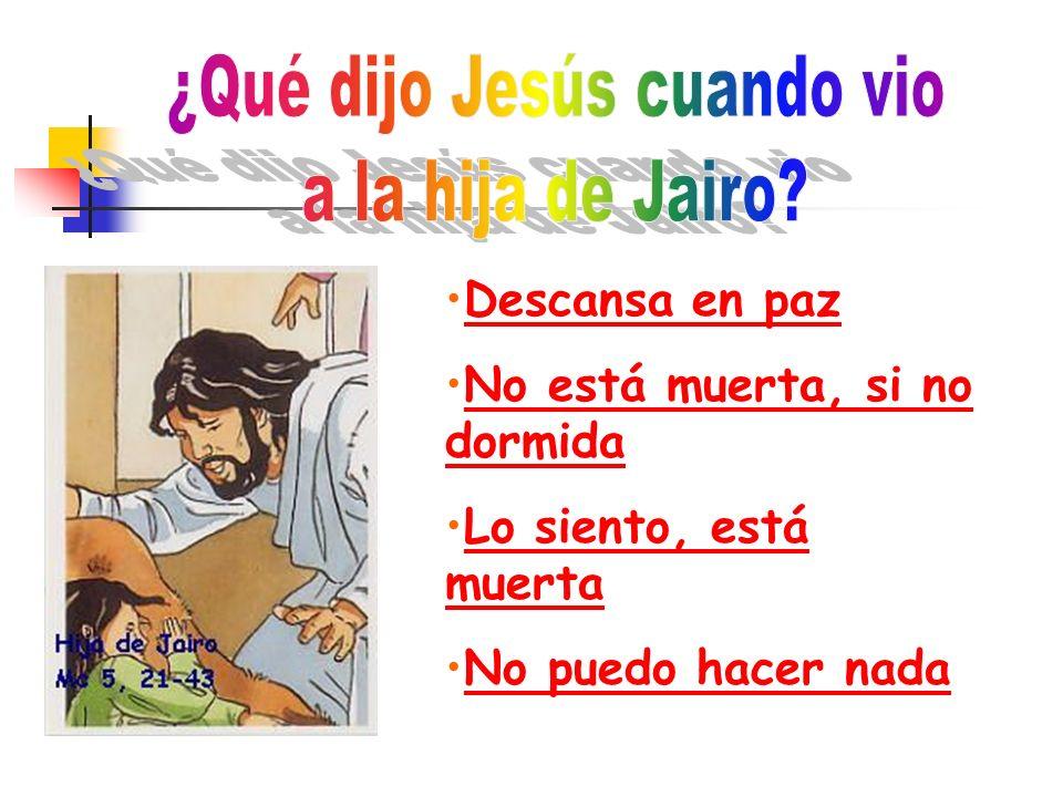 ¿Qué dijo Jesús cuando vio