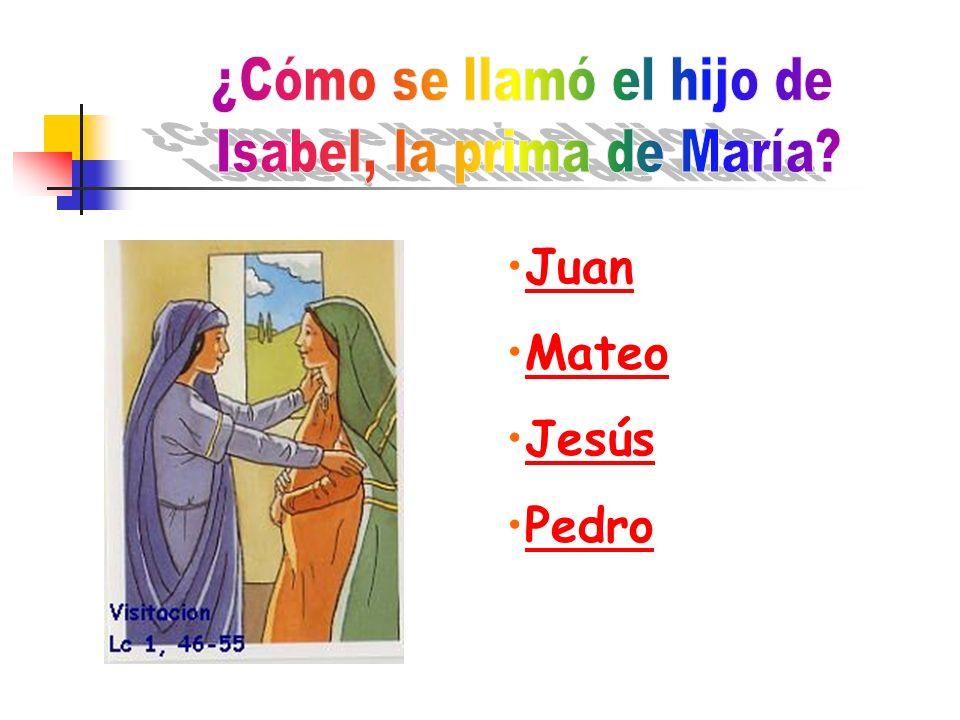 ¿Cómo se llamó el hijo de Isabel, la prima de María