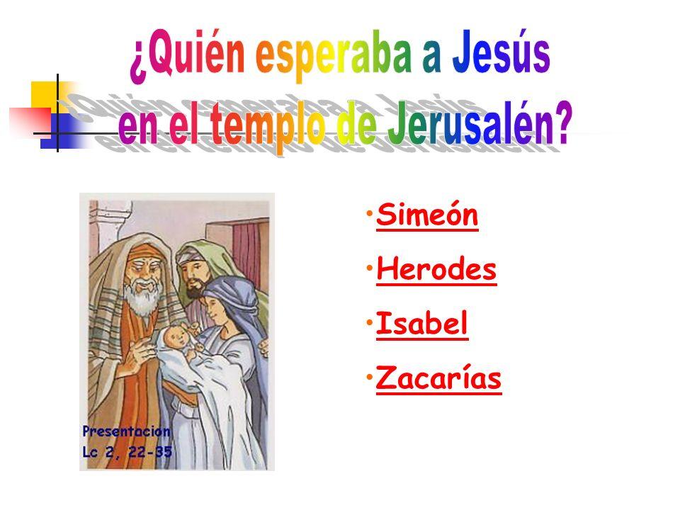¿Quién esperaba a Jesús en el templo de Jerusalén
