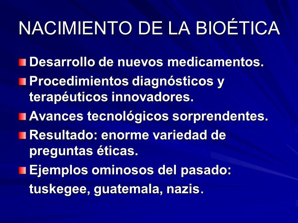 NACIMIENTO DE LA BIOÉTICA