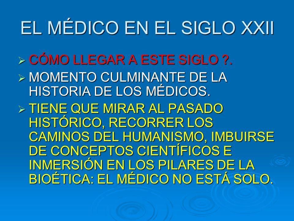 EL MÉDICO EN EL SIGLO XXII