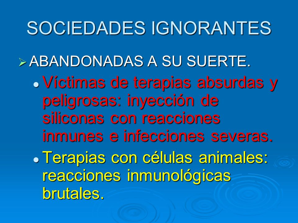SOCIEDADES IGNORANTES