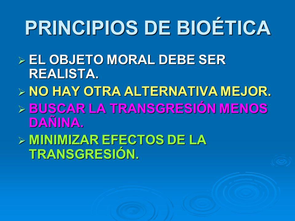 PRINCIPIOS DE BIOÉTICA