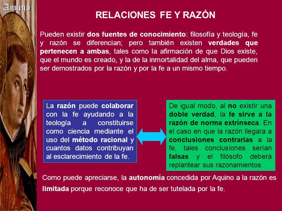 RELACIONES FE Y RAZÓN