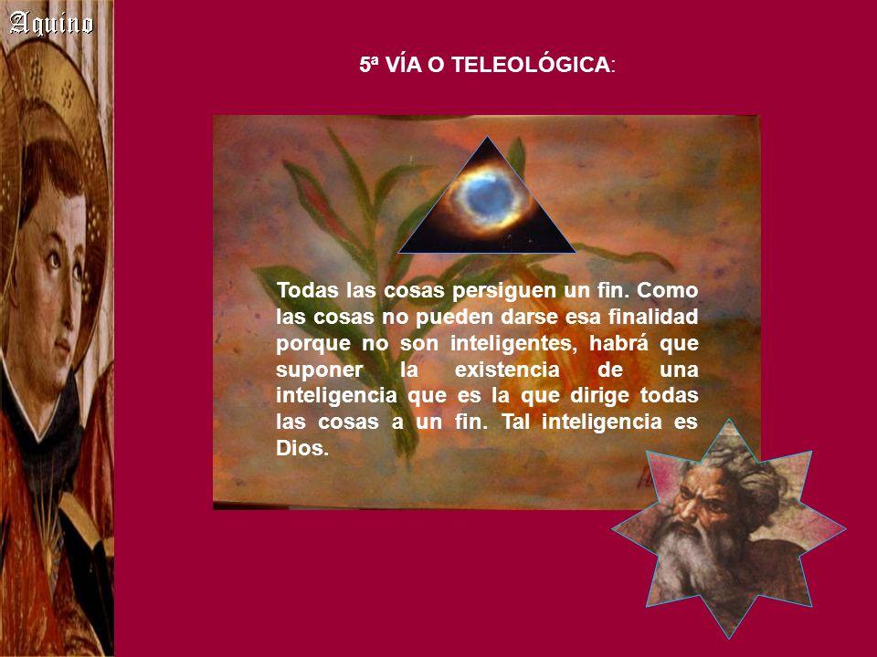 5ª VÍA O TELEOLÓGICA: