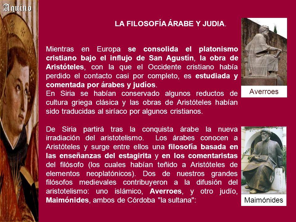 LA FILOSOFÍA ÁRABE Y JUDIA.