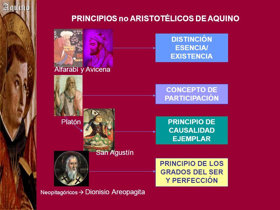 PRINCIPIOS no ARISTOTÉLICOS DE AQUINO