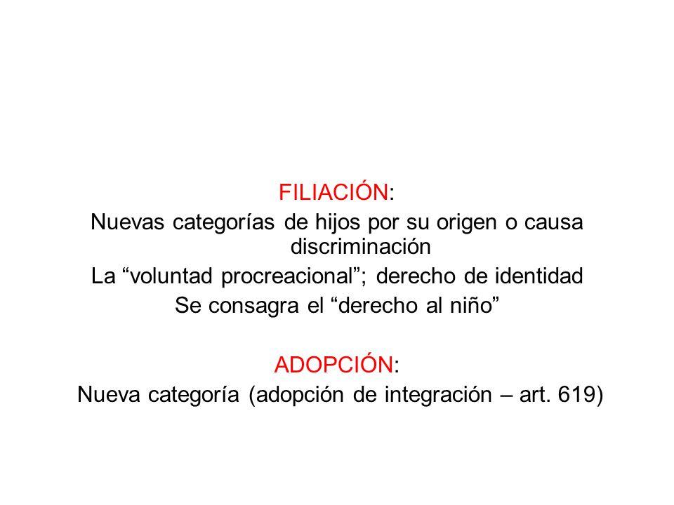 Nuevas categorías de hijos por su origen o causa discriminación