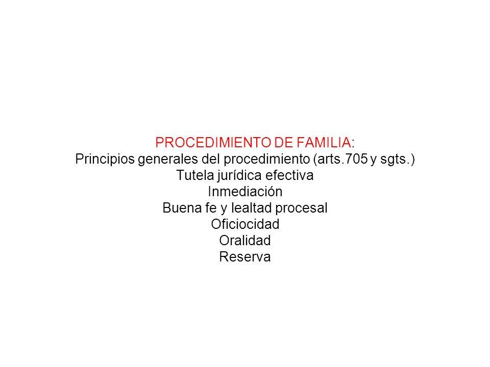 PROCEDIMIENTO DE FAMILIA: