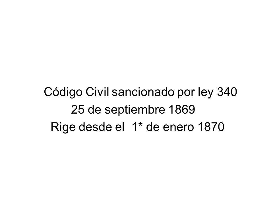 Código Civil sancionado por ley 340