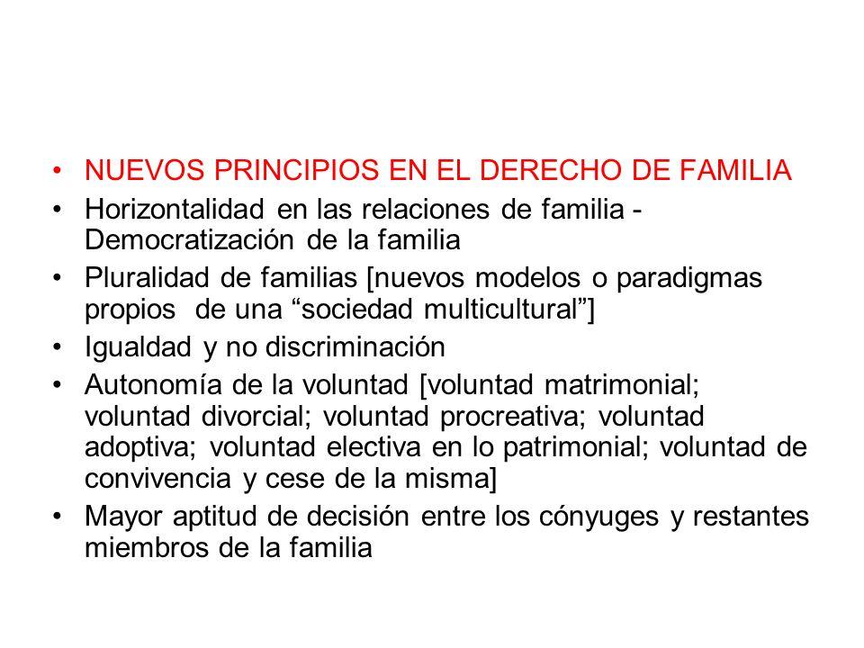 NUEVOS PRINCIPIOS EN EL DERECHO DE FAMILIA