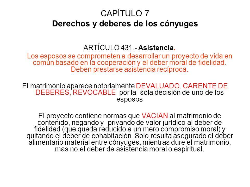 CAPÍTULO 7 Derechos y deberes de los cónyuges