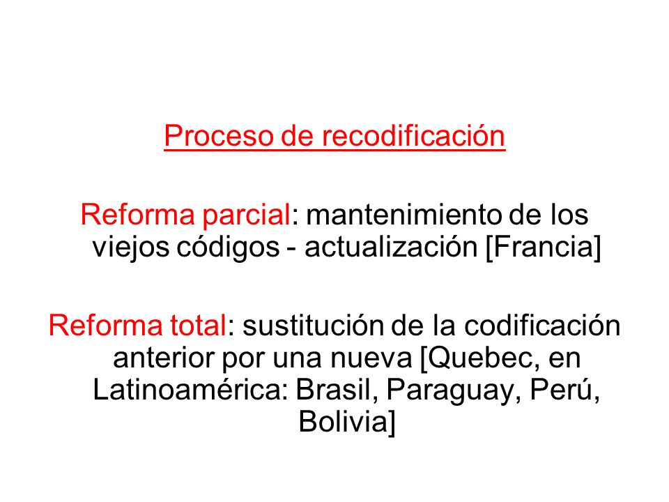 Proceso de recodificación