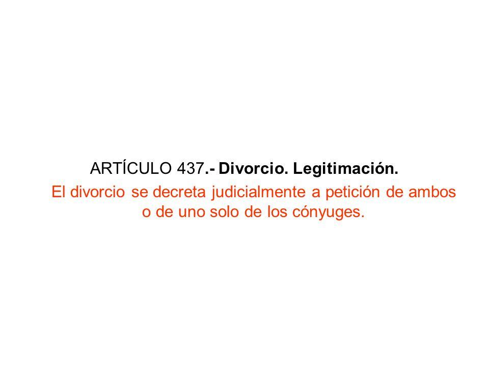 ARTÍCULO 437.- Divorcio. Legitimación.