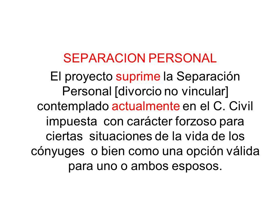 SEPARACION PERSONAL