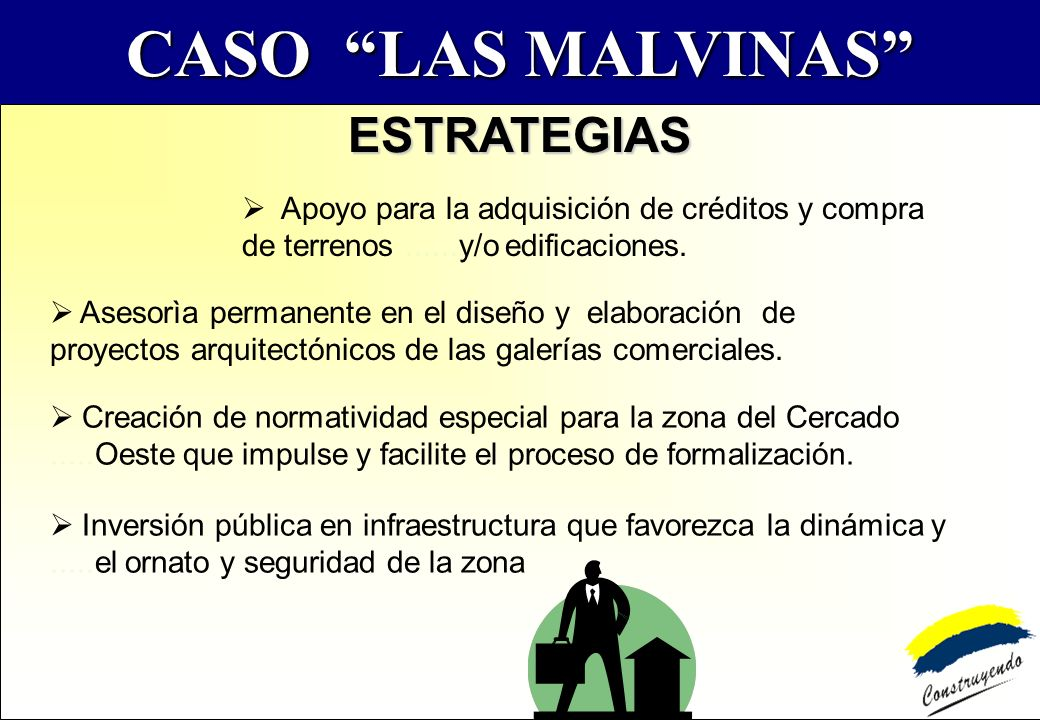 CASO LAS MALVINAS ESTRATEGIAS