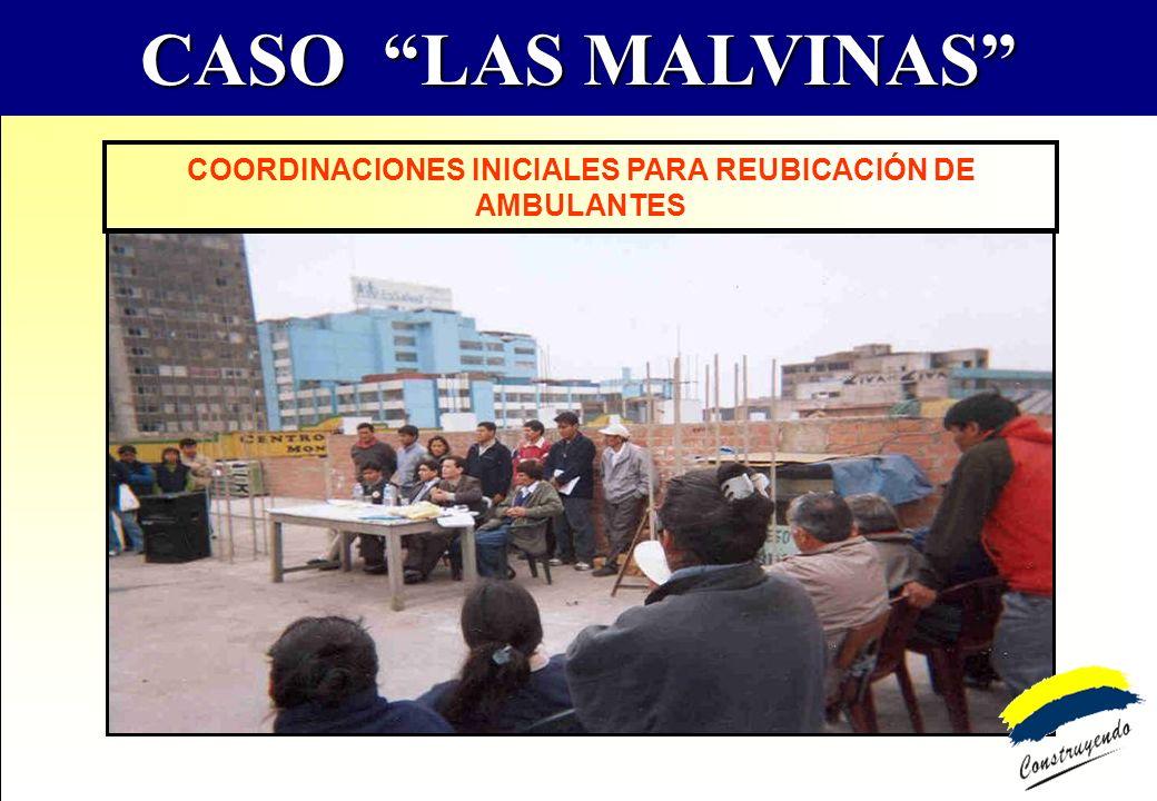 COORDINACIONES INICIALES PARA REUBICACIÓN DE AMBULANTES