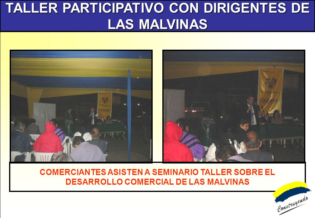 TALLER PARTICIPATIVO CON DIRIGENTES DE LAS MALVINAS