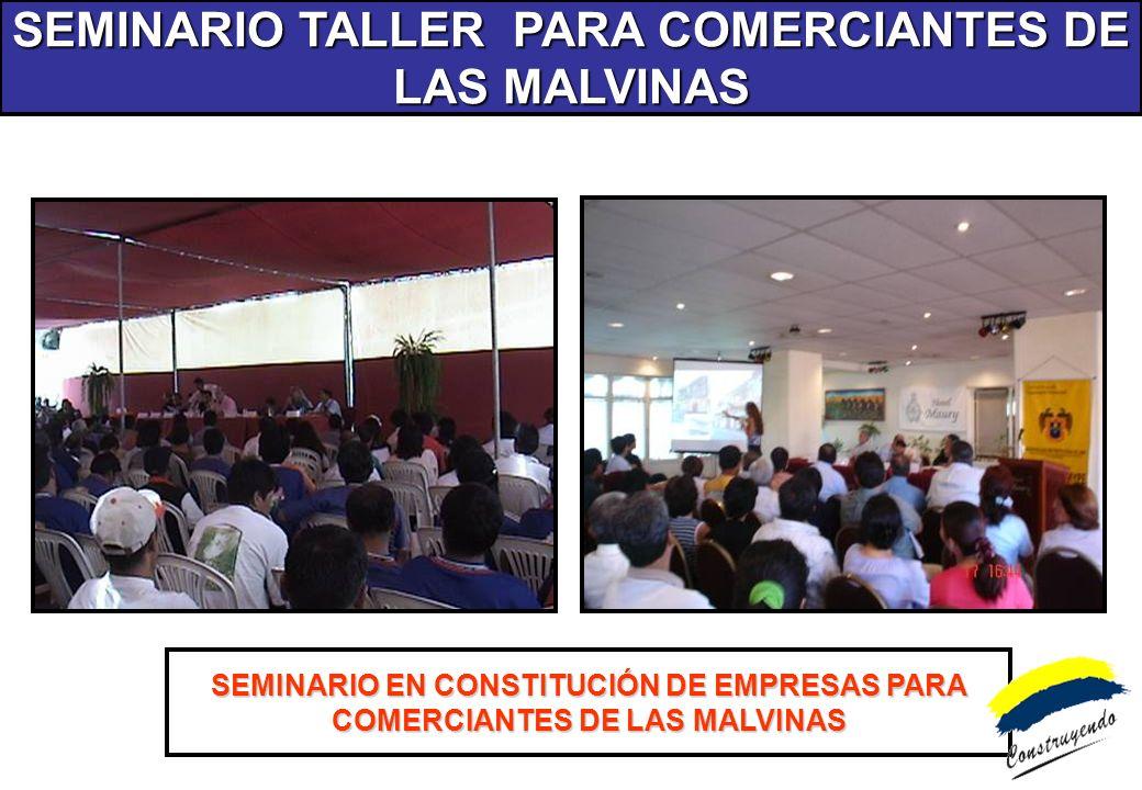 SEMINARIO TALLER PARA COMERCIANTES DE LAS MALVINAS