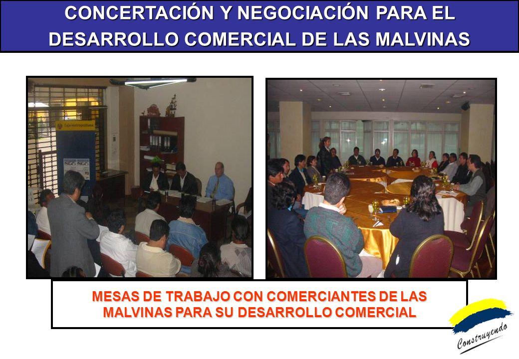 CONCERTACIÓN Y NEGOCIACIÓN PARA EL DESARROLLO COMERCIAL DE LAS MALVINAS