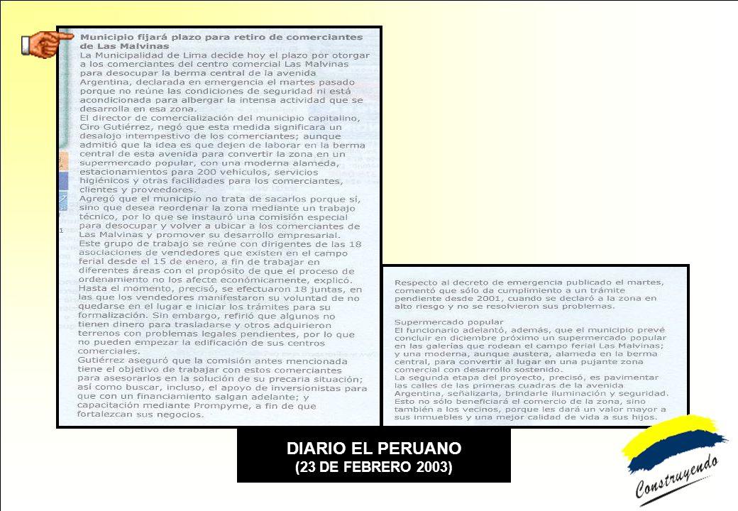 DIARIO EL PERUANO (23 DE FEBRERO 2003)