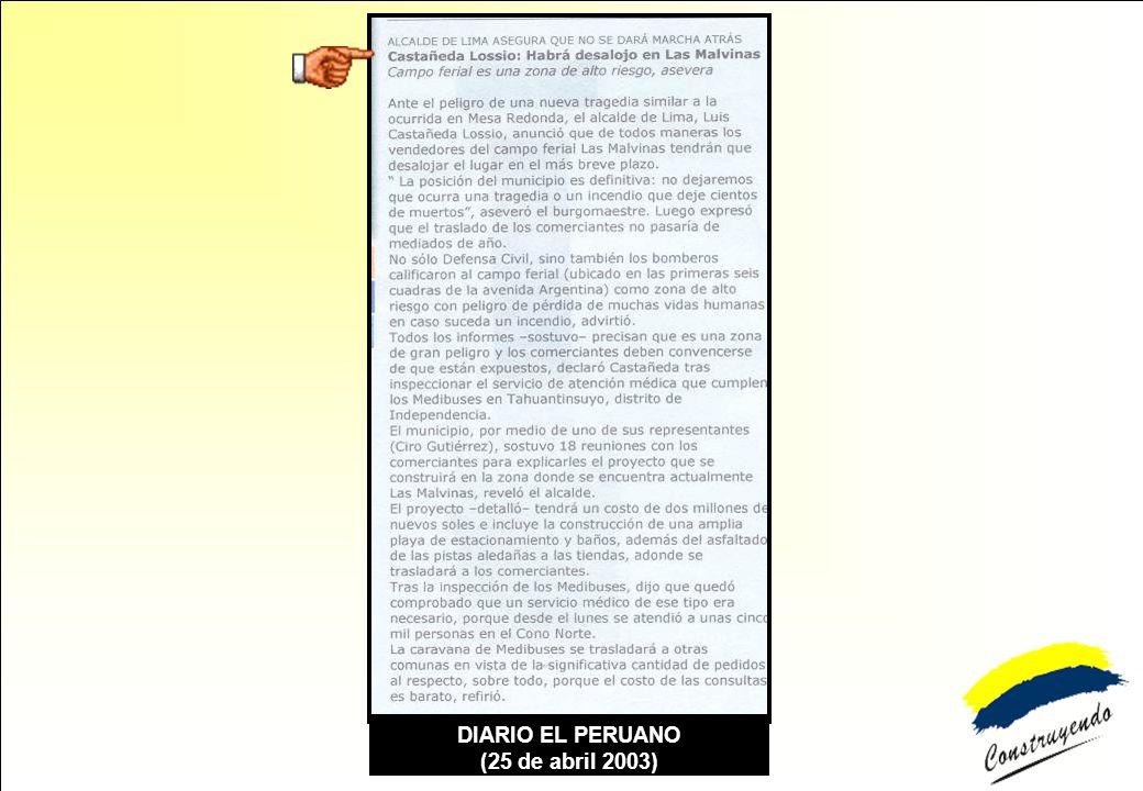 DIARIO EL PERUANO (25 de abril 2003)