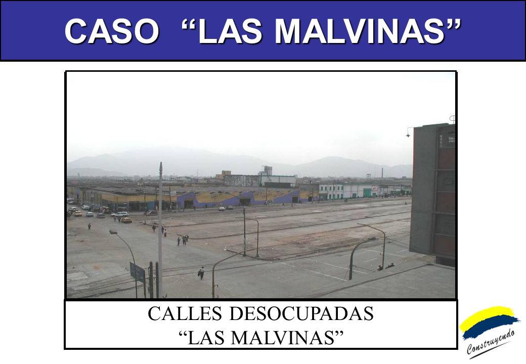 CALLES DESOCUPADAS LAS MALVINAS