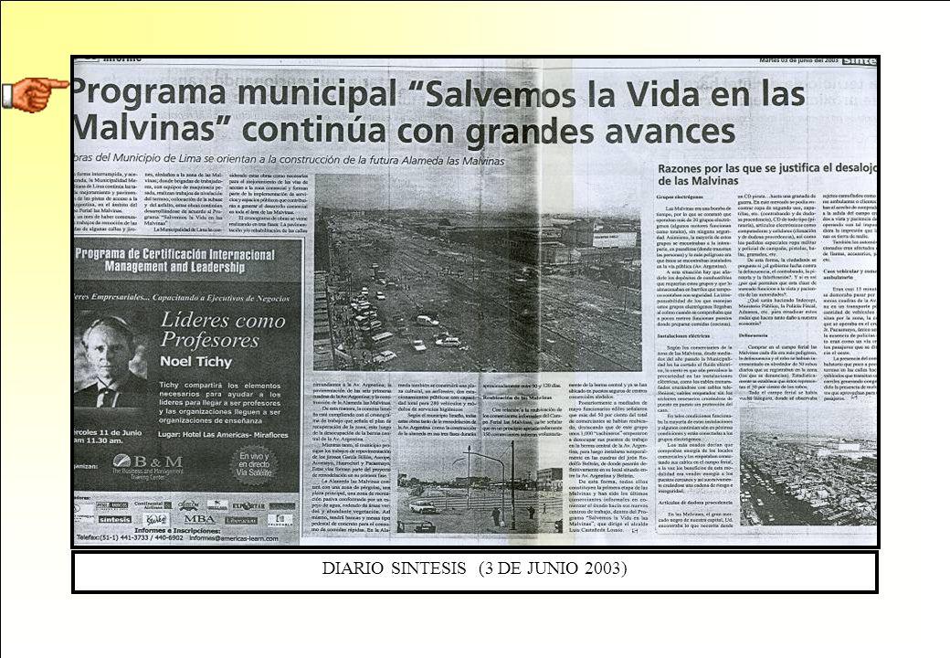 DIARIO SINTESIS (3 DE JUNIO 2003)