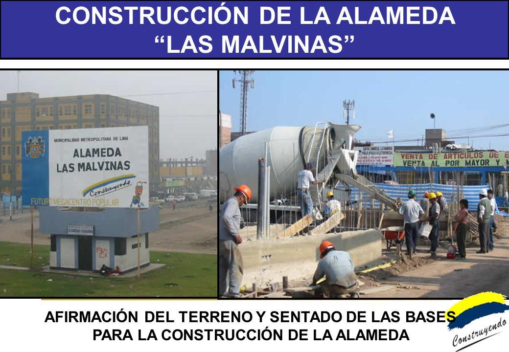 CONSTRUCCIÓN DE LA ALAMEDA LAS MALVINAS