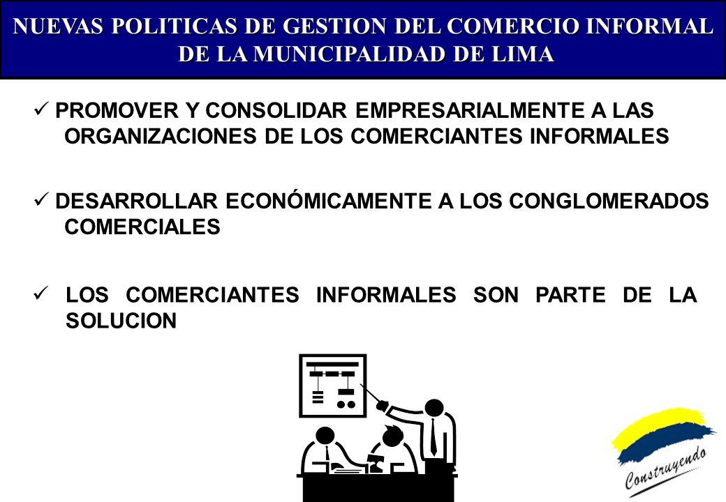 NUEVAS POLITICAS DE GESTION DEL COMERCIO INFORMAL