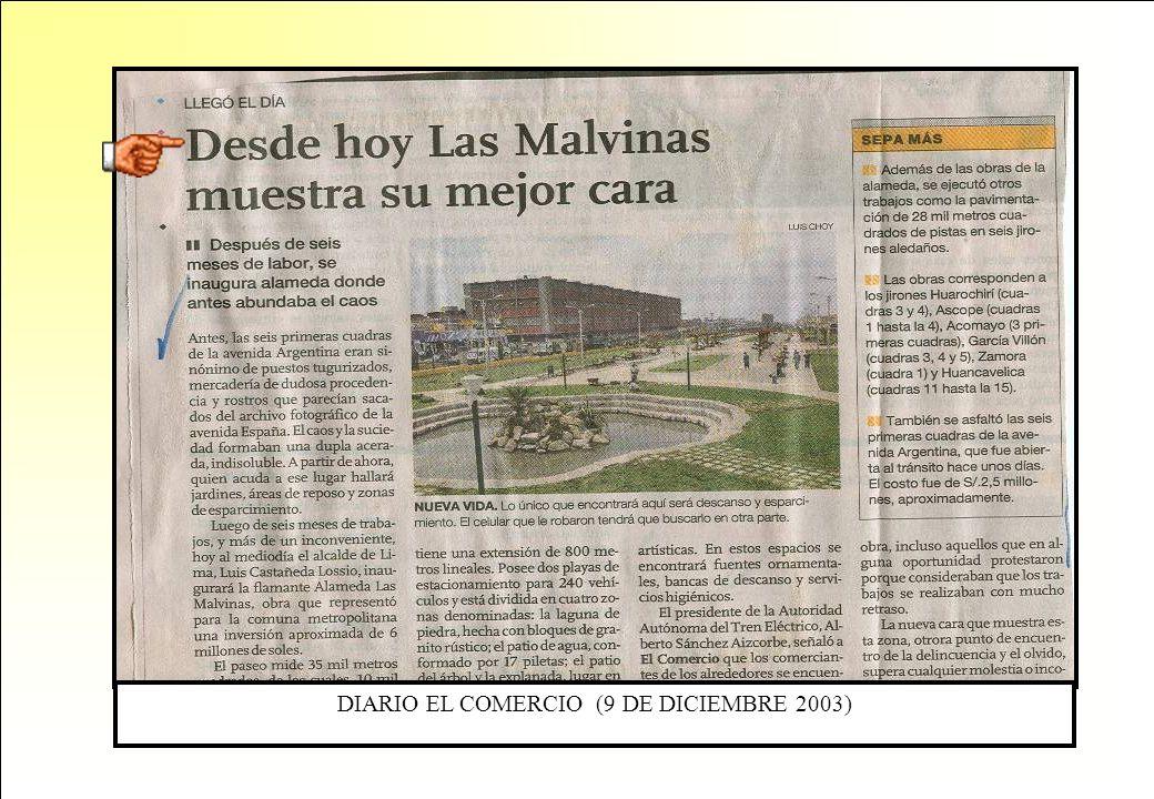 DIARIO EL COMERCIO (9 DE DICIEMBRE 2003)