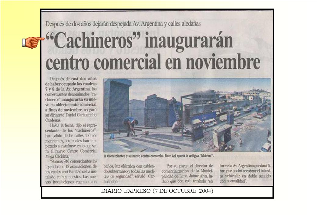 DIARIO EXPRESO (7 DE OCTUBRE 2004)