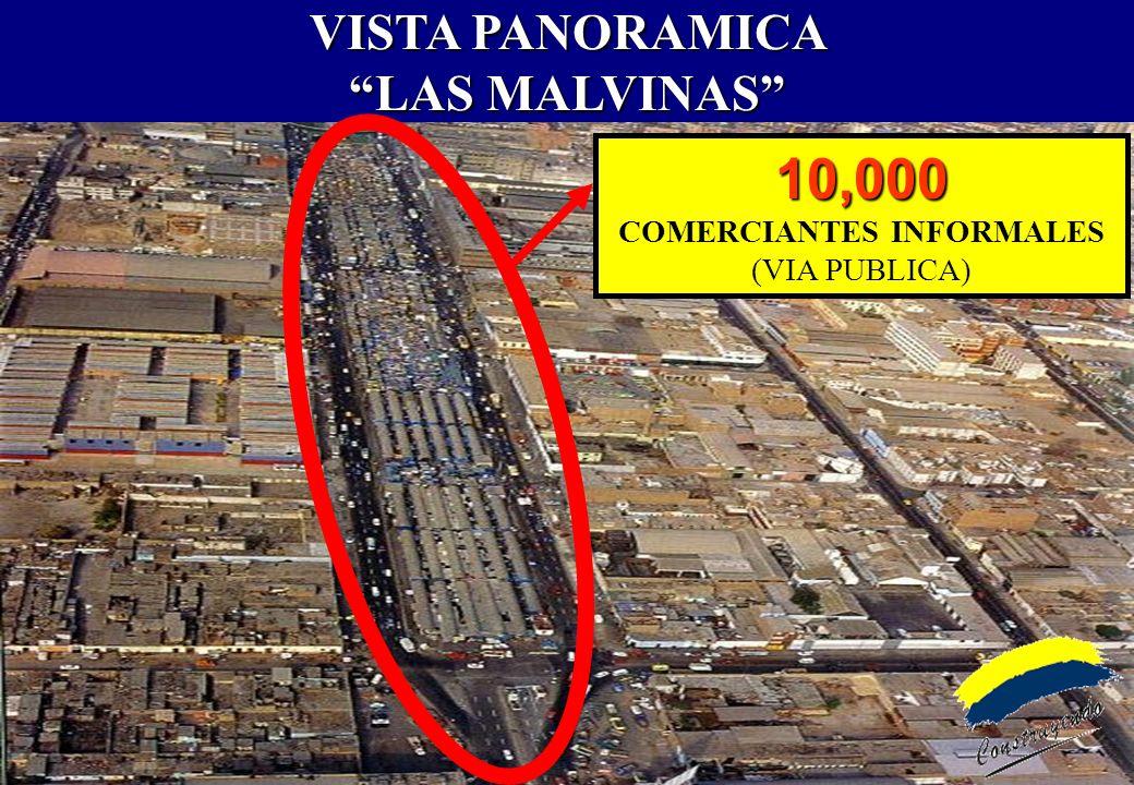 VISTA PANORAMICA LAS MALVINAS COMERCIANTES INFORMALES