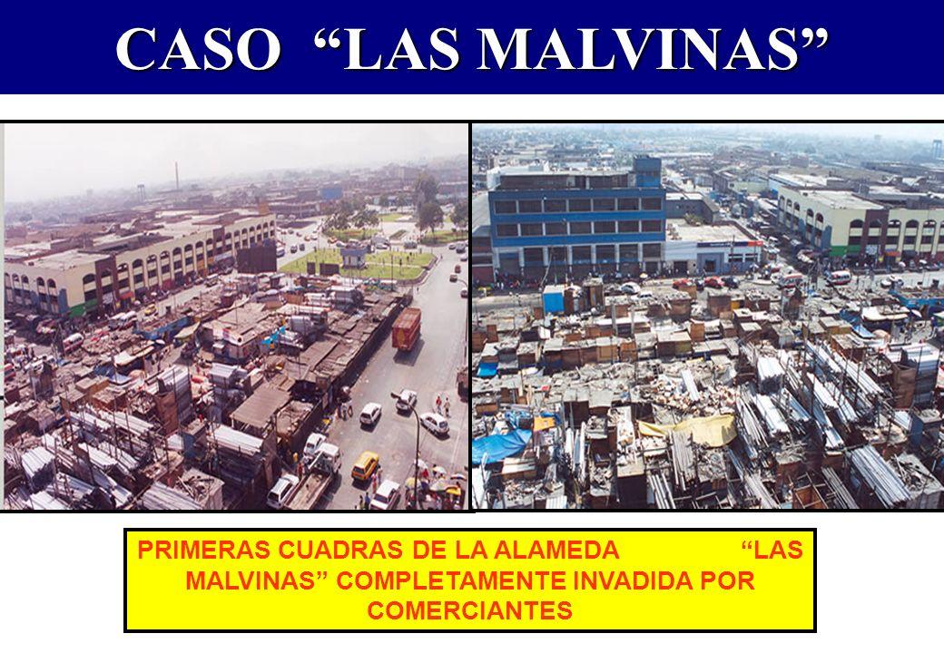 CASO LAS MALVINAS PRIMERAS CUADRAS DE LA ALAMEDA LAS MALVINAS COMPLETAMENTE INVADIDA POR COMERCIANTES.