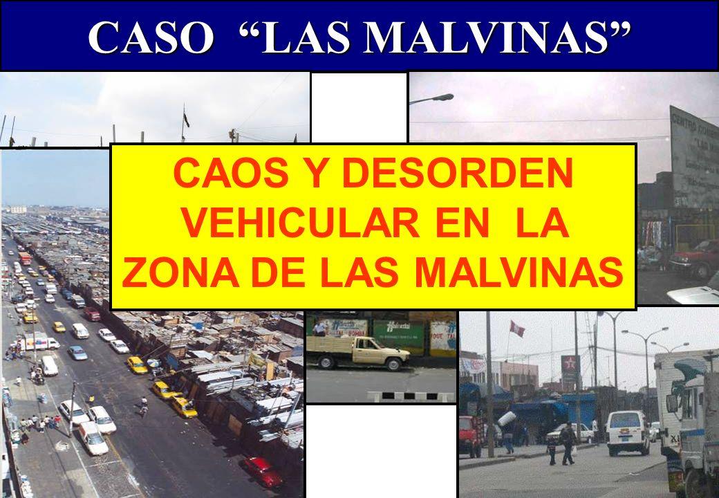 CAOS Y DESORDEN VEHICULAR EN LA ZONA DE LAS MALVINAS
