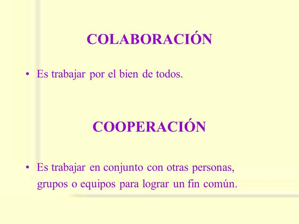 COLABORACIÓN COOPERACIÓN