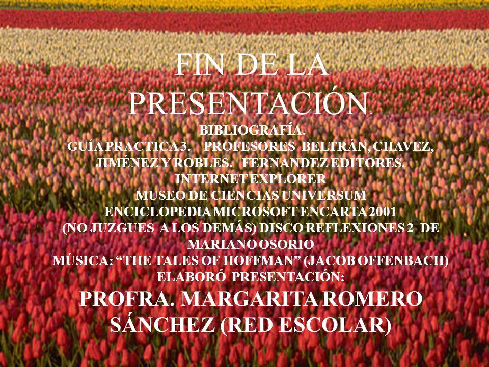 PROFRA. MARGARITA ROMERO SÁNCHEZ (RED ESCOLAR)
