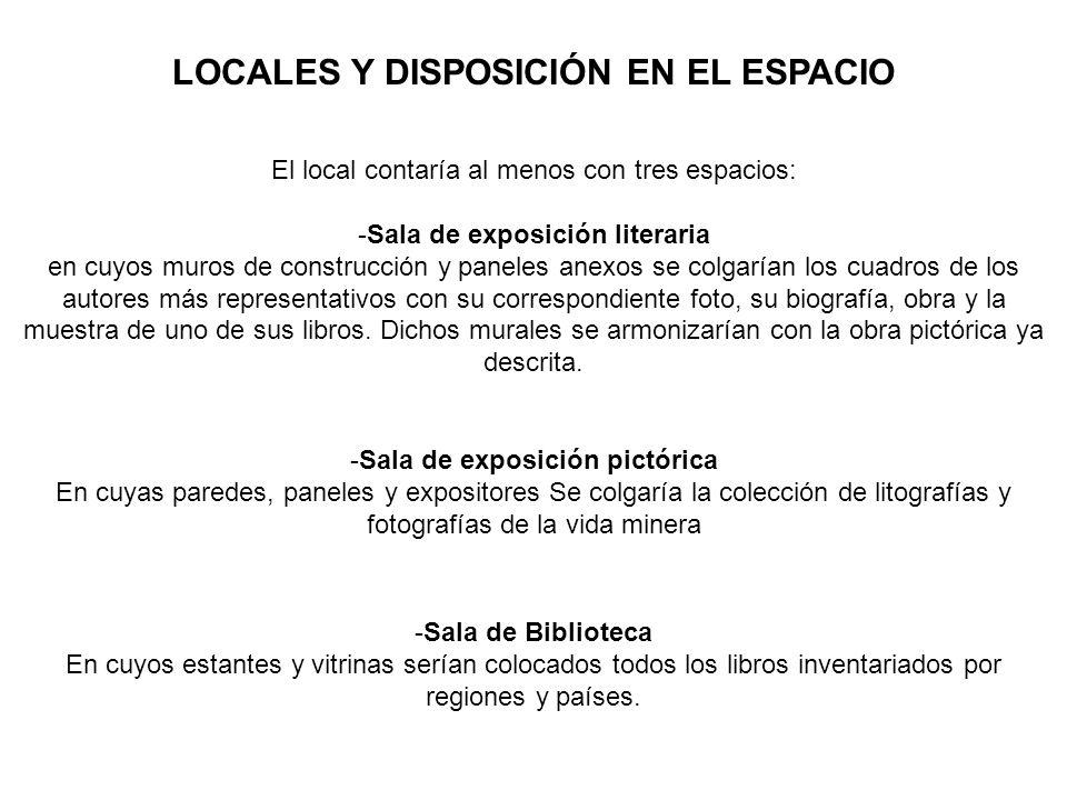 LOCALES Y DISPOSICIÓN EN EL ESPACIO