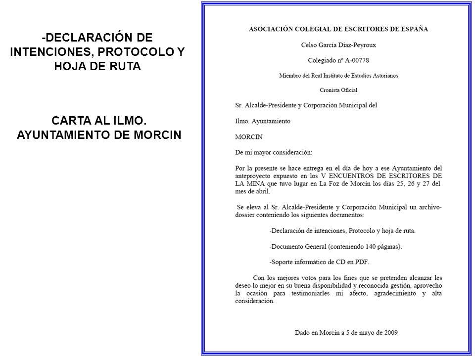 -DECLARACIÓN DE INTENCIONES, PROTOCOLO Y HOJA DE RUTA