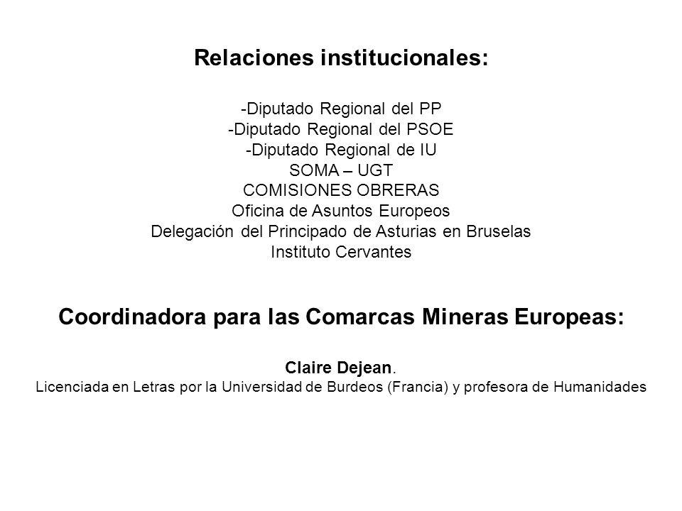 Relaciones institucionales: