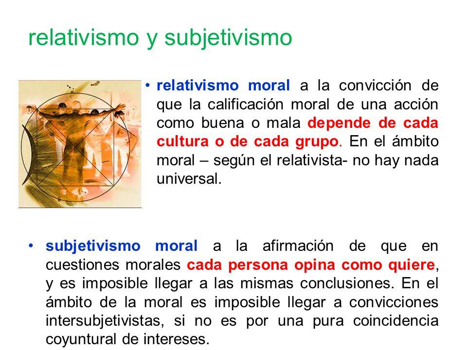 relativismo y subjetivismo