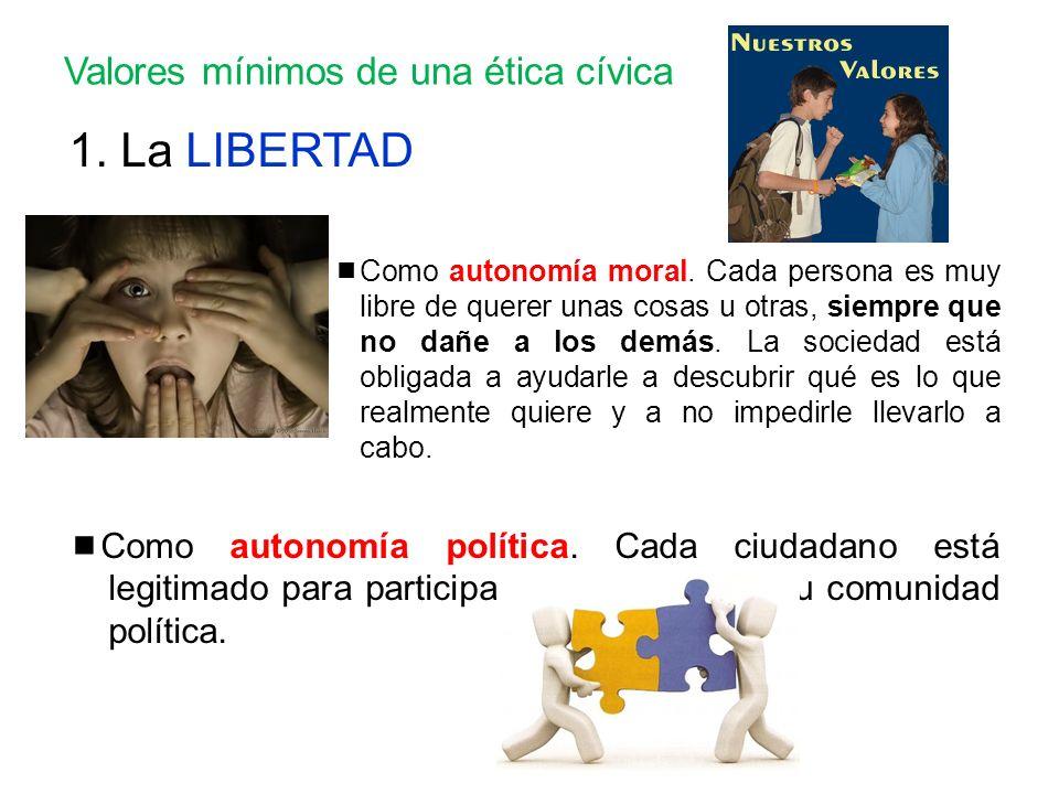 Valores mínimos de una ética cívica